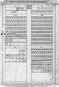 Gräberplan Anstaltsfriedhof, Archiv Pfarre St. Matthias, Schwalmtal
