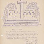 Einladung St. Josefs-Schützenbruderschaft 1962