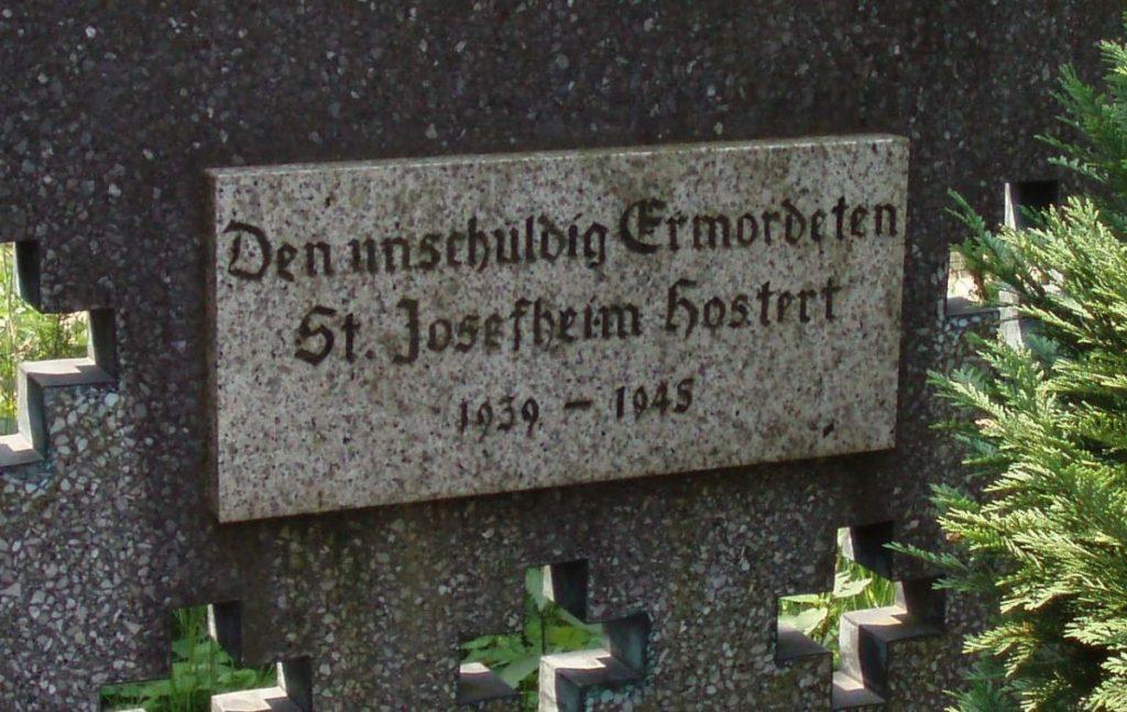 Tafel von 1980 am Hochkreuz
