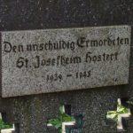 Tafel von 1982 am Hochkreuz, Privatbesitz Zöhren