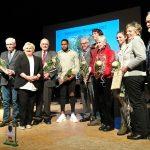 Preisträger des Ehrenpreises 2018 zusammen mit Bürgermeister u Stellvertreter