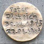 Bronzeplakette 1940