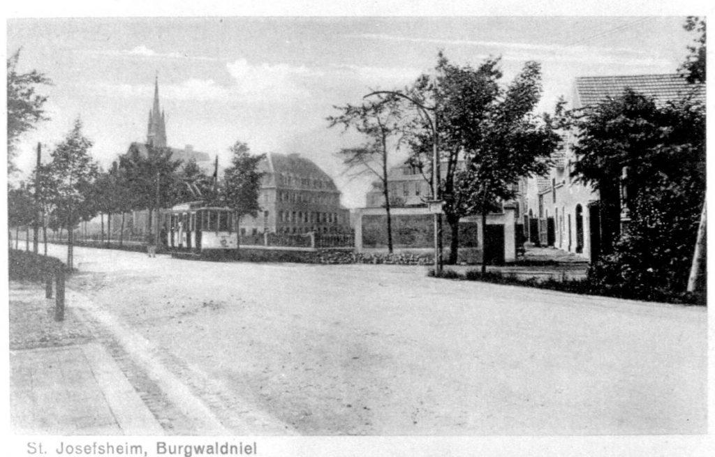Reichsstraße mit Straßenbahn Linie 3 (Um 1920)