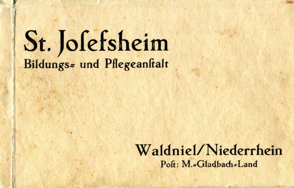 Werbung für das St. Josefsheim