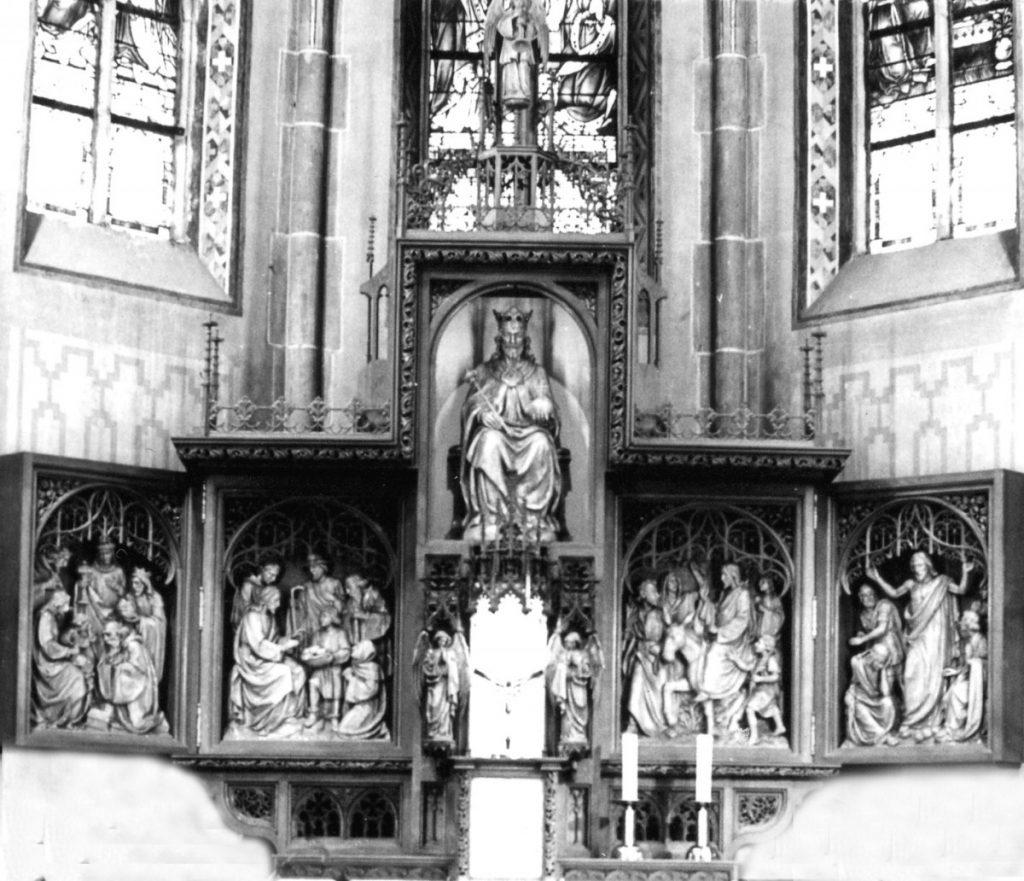 Christus-König Hochaltar Anstaltskirche Hostert