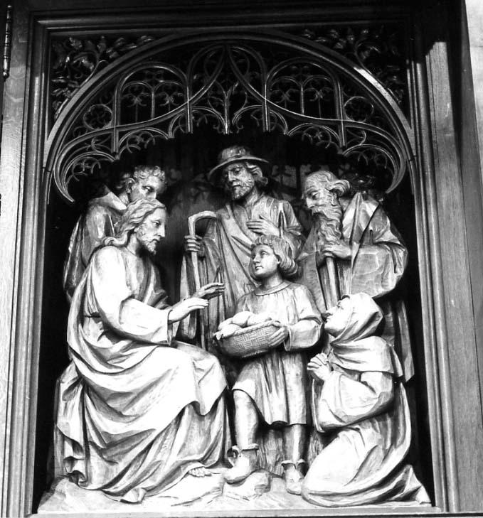 Brotvermehrung, Christus König Altar Anstaltskirche Hostert