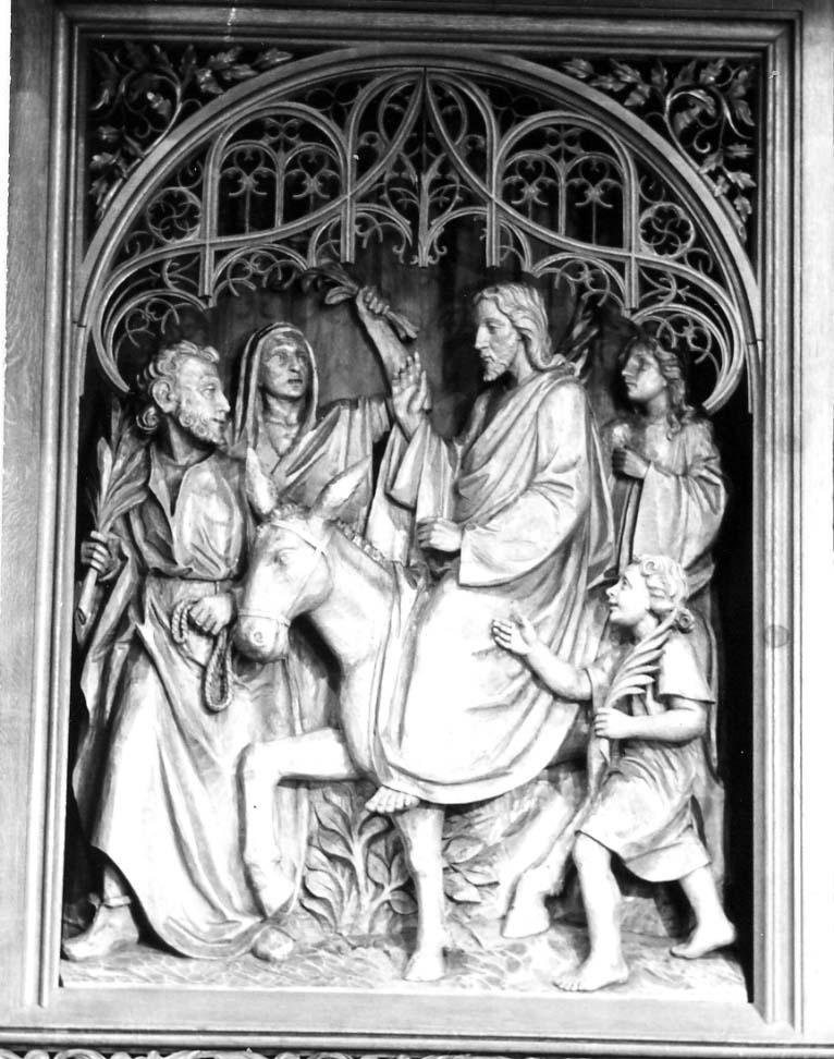 Einzug in Jerusalem, Christus-König-Altar, Anstaltskirche Hostert