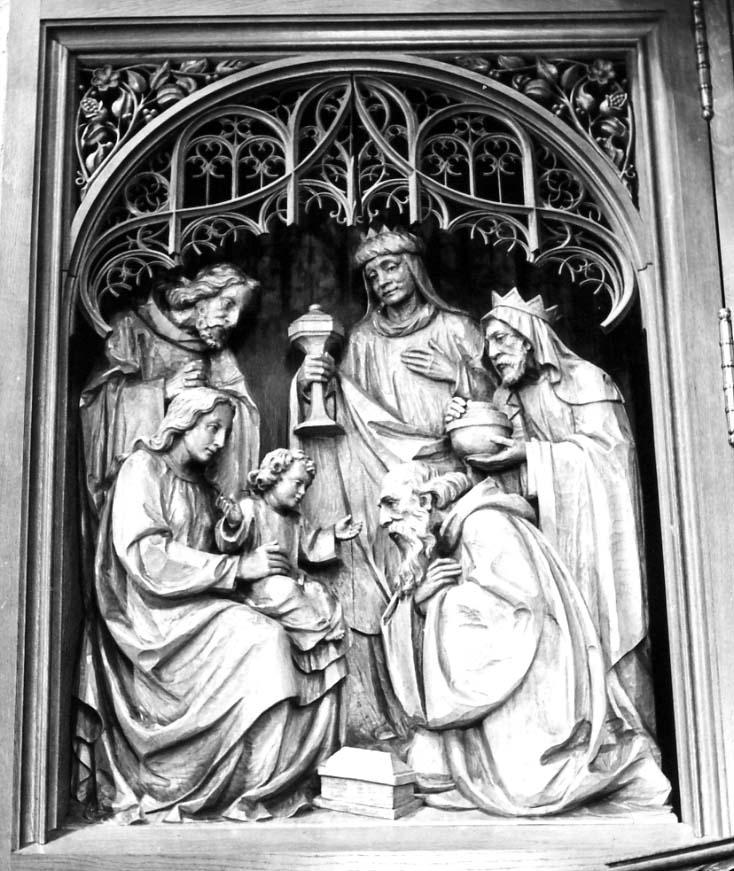 Epiphanie, Christus-König-Altar, Anstaltskirche Hostert