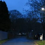 Straßenleuchte vor der Gedenkstätte